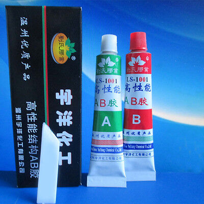 2X Ultrastrong AB Epoxy Adhesive Glue Spatula Strong Ceramic Glass Rubber Metal