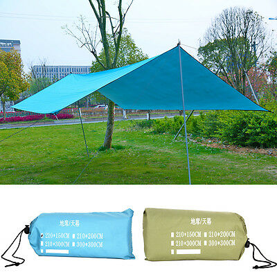 Waterproof Sun Shade Sail Tent for Canopy Hammock Outdoor Camping Shelter 10*10'