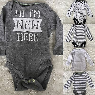Cat And Jack Baby Boy Girl 0-3 Months 5 Pack Long Sleeve Bodysuit One piece