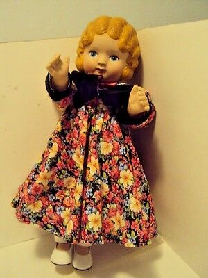 Daisy Kingdom - Blonde Doll- 18 inches tall- Floral Dress- Pansy Doll