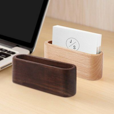 Business Card Holder Wooden Single Compartment Name Card Display Stand Shelf
