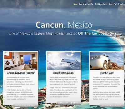 Turnkey Travel Site Hotels flights Car Rental Affiliate Website for Extra income