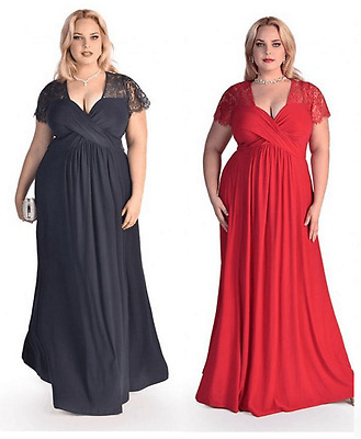 Maternity Evening Dress,Lace Top Maxi Gown,Baby shower dress,Plus Size 16-30