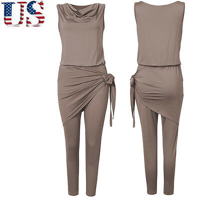 Women Ladies Sleeveless Clubwear Playsuit Bodycon Party Jumpsuit&Romper Trousers