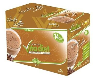 Medical Vita Diet Iced Coffee Weight Loss Shakes 14 Pack Gluten Free