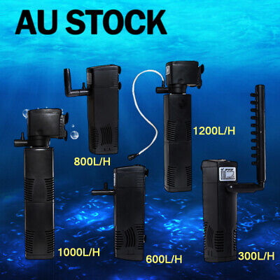 3 in 1 Fish Tank ECO Aquarium Submersible Water Power Filter Pump 300-1200L/H