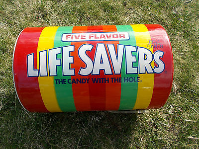 Vintage Life Savers Candy Ice Bucket/ Cooler Lucite Plexi Handle And Lid
