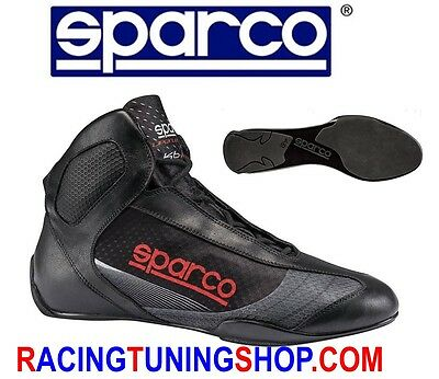 Scarpe Kart Sparco Superleggera Karting Shoes Size Eu 45 Black Kartschuhe