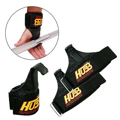 Weightlifting Hook Fitness Training Gym Wrist Wrap Support Chin Up Power Gripper