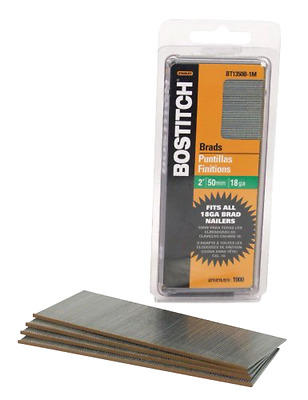 BOSTITCH BT1350B-1M 2-Inch 18-Gauge Brads, 1000 per Box - Free 2 Dat Shipping