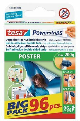 Tesa Powerstrips Poster 96 St. Power Strips Big Pack 58213