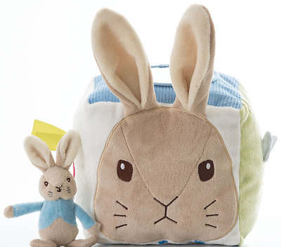 Peter Rabbit Activity Cube  - Beatrix Potter Baby Soft Toy  -  FAST DISPATCH!