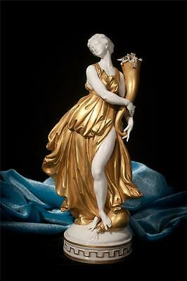 RARE Vintage ITALIAN CAPODIMONTE Porcelain THE SPRING Numbered gilded FIGURINE