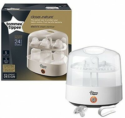 Tommee Tippee Closer To Nature Electric Bottles Steriliser Chemicals BPA Free