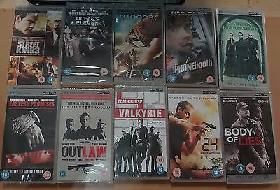 10 X UMD Movie PSP films (New & Sealed) Joblot Bundle (3)