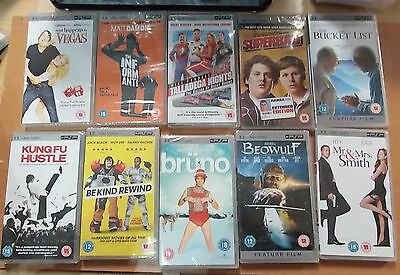 10 X UMD Movie PSP films (New & Sealed) Joblot Bundle (4)