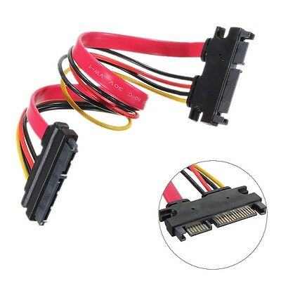 Male to Female 7 15 Pin Serial ATA SATA Data Power Extension Cable Lead 22 Pin