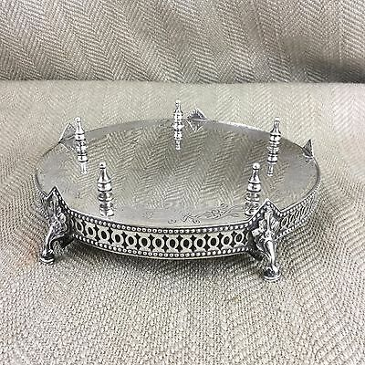 Victorian Decanter Stand Wine Bottle Coaster Display Plinth Silver Plated