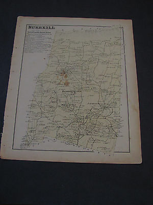 1874 Atlas Of Northampton County Pennsylvania Bushkill D.G. Beers Map
