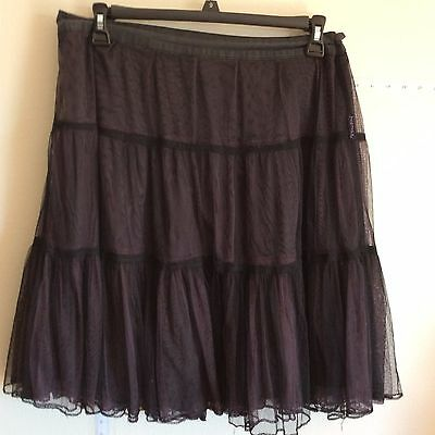 Womens Casual Party Celebrity Wear to Work EXTENSION SKIRTS SIZE 16