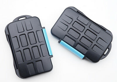 2 x Camera Memory Card Cases for  4 CF or  8 SD cards. MC-02. Waterproof.