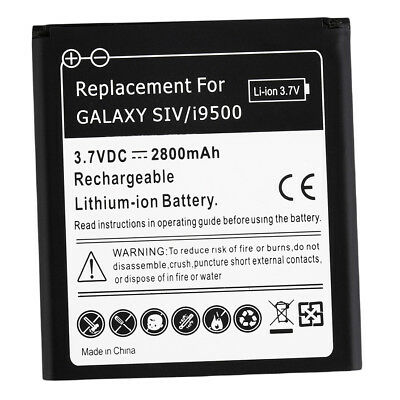 New 2800mAh Standard Li-Ion Battery Replacement for Samsung S4 I9500 Black *X
