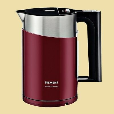 Siemens Wasserkocher TW86104P sensor for senses - 1,5 L - cranberry red/schwarz