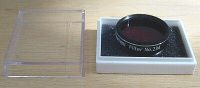 "Zhumell #23a Light Red Telescope Eyepiece  Filter - 1.25"" - NEW"