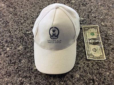 mint condition cap from the Sharjah ( United Arab Emirates ) Police Dept!