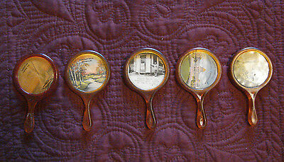Rare Vintage ADVERTISING Pocket Mirrors - Famous Places