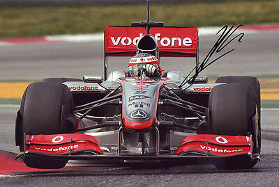 David Coulthard Signed 8X12 inches McLaren F1 photo