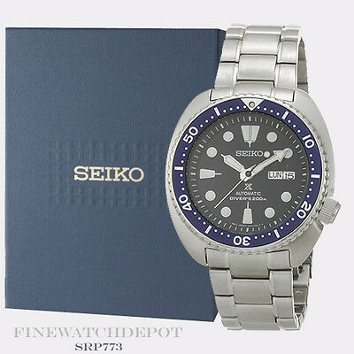 Authentic Seiko Men's Propex Turtle Stainless Steel Watch SRP773
