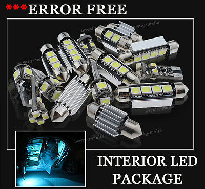 10x Bulbs For BMW 3 SERIES SALOON COUPE INTERIOR PACKAGE ICE BLUE LED LIGHT KIT