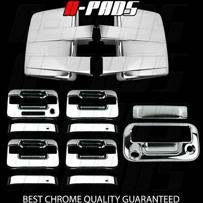 09-14 FORD F150 Chrome Cover Mirror&4 Door Handle W/KP W/O PK&Tailgate W/Key&CAM