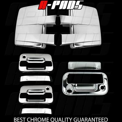 09-14 FORD F150 Chrome Cover Mirror &2 Door Handle W/O Key W/PK&Tailgate CAM