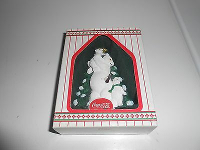 """Heritage Collection - Coca Cola """"trimming The Tree"""" Ornament - Polar Bears"""