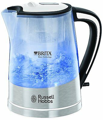 Russell Hobbs 22851 Plastic Brita Filter Purity Kettle, 3kW 1 Litre Transparent