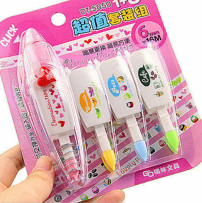KAWAII DECORATIVE CORRECTION TAPE SET Of 4