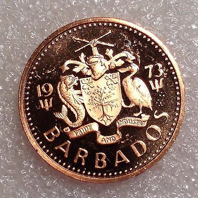 Barbados 1 Cent 1973 PROOF   #2190