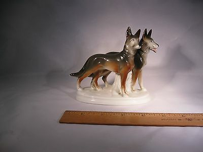 Vintage German Shepherd Figurine Brace from Germany