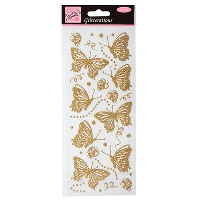 Anita's Glitterations Peel Off Gold Butterfly Stickers | ANT 8181016 | B59