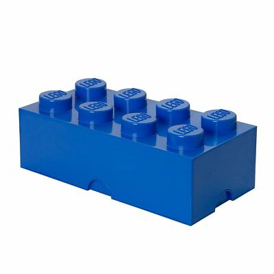Lego Storage Brick 8 Knobs Large Stone Blue SEE DETAILS