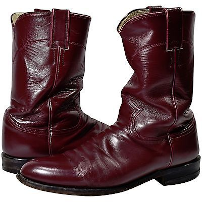 Vintage Men's 8.5 Justin Cordovan Leather Western Boots Cowboy Boots Work Boots