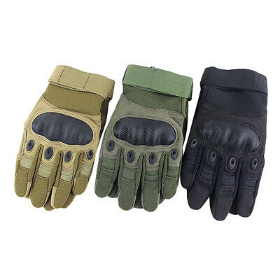 Outdoor Tactical Armor Fiber Tortoiseshell Riding Camping Finger Gloves *X