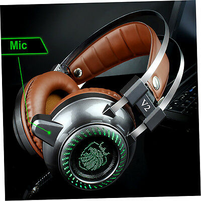 Fashion Cool Steel Series Fidelity Speakers Stereo V2 Gaming PC Light Headset *X