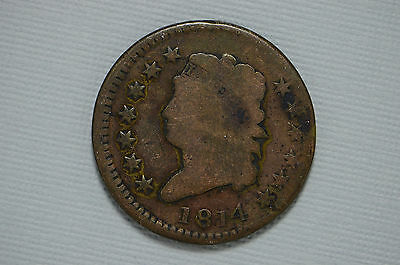 1814 Large Cent Soft Copper Issue 1808-1814 (cn2061)