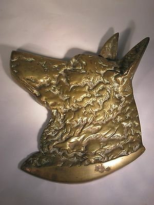 Brass German Shepherd Wall/Fence Hanger