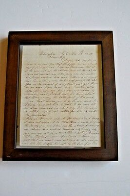 AntiqueOriginal, 1849 handwritten letter from Haughevout to his wife (1800-1899)
