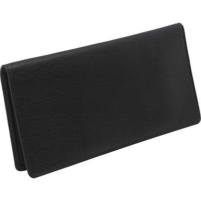 Osgoode Marley Cashmere Checkbook Cover Wallet 1510 - Black New with Tags NWT