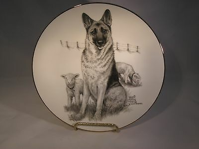 German Shepherd Plate - Telia Fleming Hanks